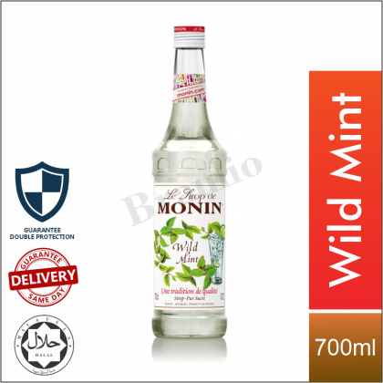 Monin Syrup Blue Lagoon Grenadine Mint Lychee Blueberry Green Apple Flavour - 700ml [Limited Time Only]